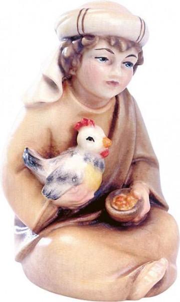 Hirtenjunge sitzend mit Henne Nr. 4524